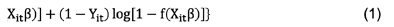 Given this specification, consistent estimations of β can be obtained by