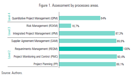Figure 1. Assessment by processes areas.