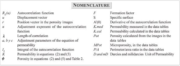 A STUDY OF IMAGE AUTOCORRELATION AS A METHOD TO CHARACTERIZE