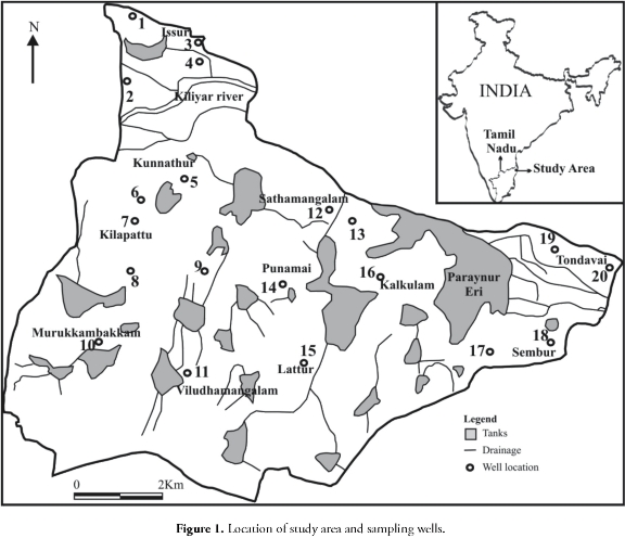 Hydrochemical characteristics of groundwater for domestic and
