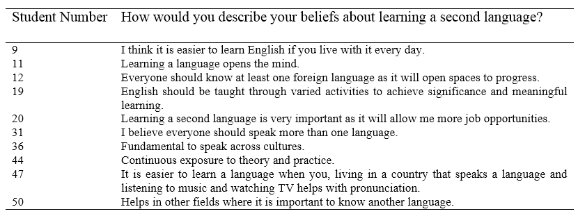 What students are telling us: A case study on EFL needs and