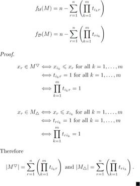 Computation of matrices and submodular functions values